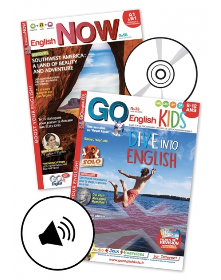 1 year: English Now + Go English Kids + audio
