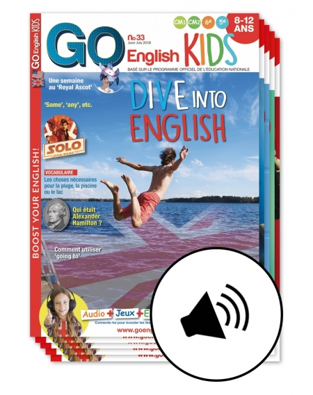 2 years: Go English Kids+ audio+interactive exercises