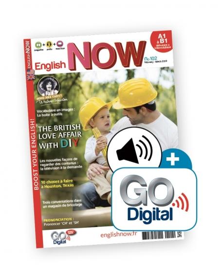 1 an : English Now avec l'audio telechargeable et Go Digital
