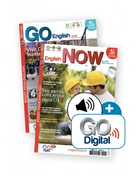 2 ans : Go English + English Now + audio telechargeable + Go Digital