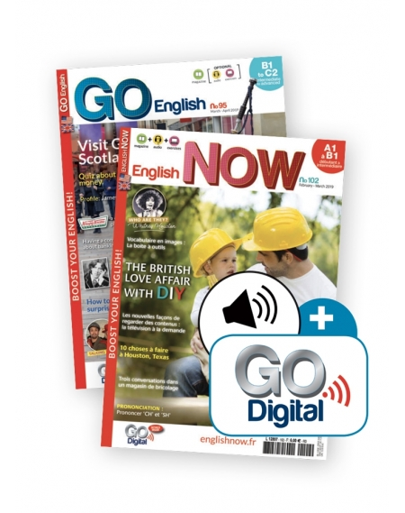 1 an : Go English + English Now + audio téléchargeable + Go Digital