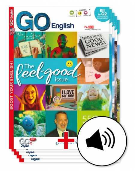 1 year: Go English with downloadable  audio