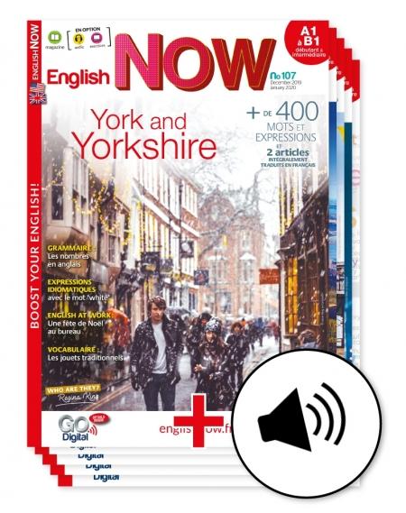 1 an : English Now avec l'audio telechargeable